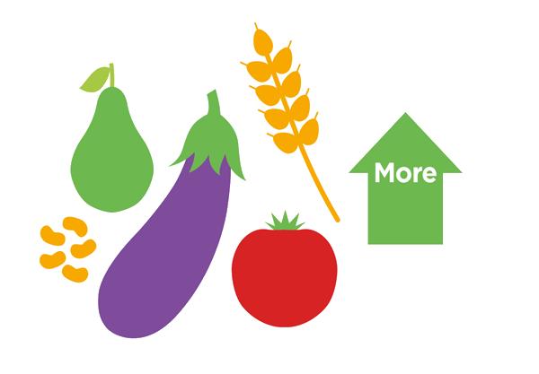 Consuma cereali integrali, verdure, frutte e legumi