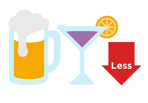 Limita il consumo di bevande alcoliche